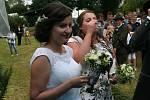 Myslivecká svatba v Dražejově.