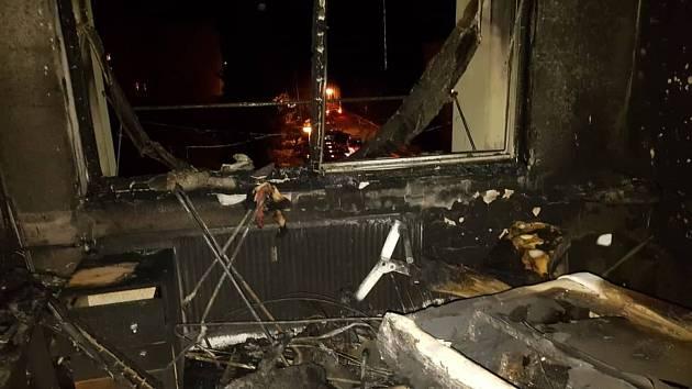 Ve strakonické Povážské ulici vypukl v sobotu požár.