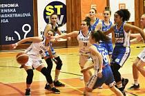 TĚSNÁ PORÁŽKA. Basketbalistky domácí U19 Chance bojovaly srdnatě na druhé vítězství ale nedosáhly.