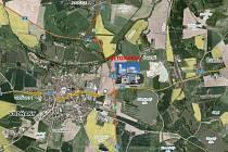 Firma Brož chce vystavět betonárku v těsném sousedství Pískovny Čavyně.