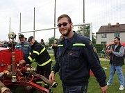 Sobotní oslavy 120. let od založení dobrovolných hasičů v Chelčicích doprovázel déšť.