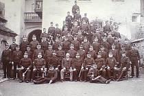 Jedna z nejstarších fotografií volyňského sboru dobrovolných hasičů.
