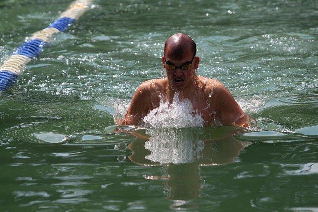 Plavecké závody ve Volyni.