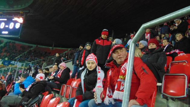 Fanoušci Slávie Praha vyrazili do Edenu na Evropskou ligu.