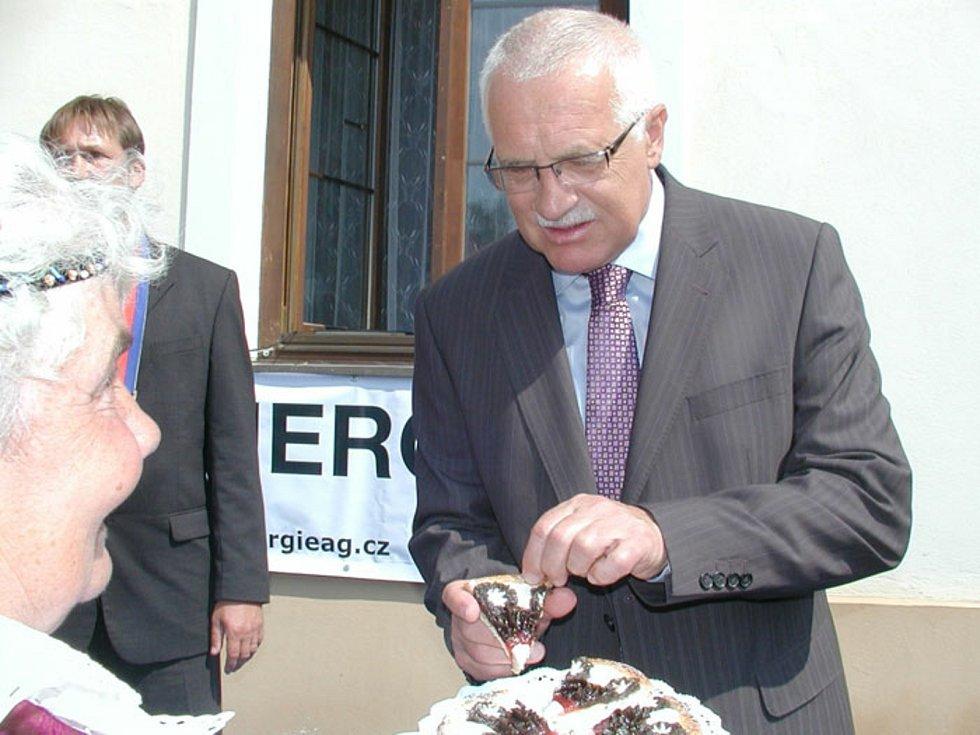 Prezident Václav Klaus navštívil 25. června 2006 Radomyšl.