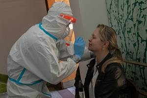 Testování na koronavirus ve Strakonicích. Ilustrační foto.