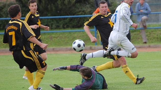 Vodňany prohrály v Milevsku 0:2, domácí se tak mohli radovat z postupu do divize.