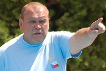 Trenér reprezentace ČR Jaroslav Bartůněk.