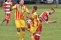 Fotbalová A třída: Junior Strakonice - Lhenice 1:3.