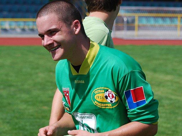 O zisku tří bodů pro Prachatice rozhodl Kamil Ryšánek.