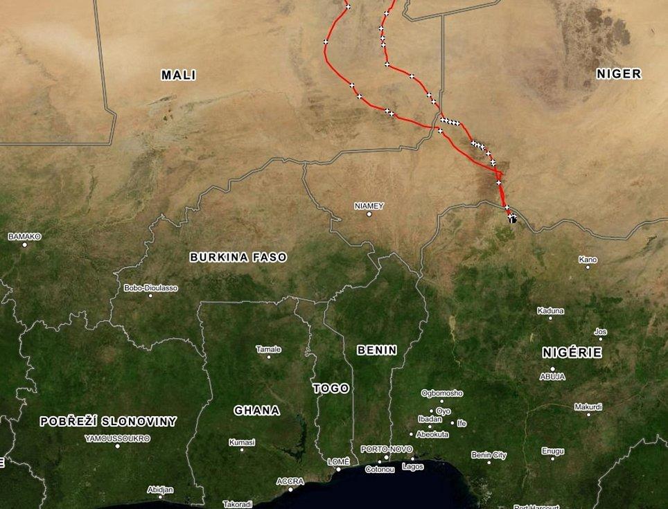 Dravec zimoval v Nigérii, jeho cesta na jih a zpět byla téměř 10 tisíc kilometrů.