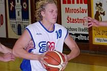 Basketbalisté Strakonic (na snímku je rozehrávač Martin Janda) hostí o víkendu týmy z Prahy – Sokol pražský B a Slovan Bohnice.