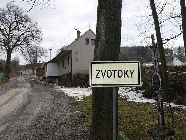 Příjezd do obce