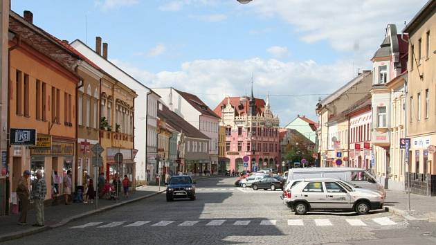 Současný pohled na část Velkého náměstí ve Strakonicích, která by rekonstrukcí měla projít už v první etapě.