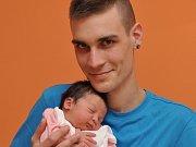 Amy Černá, Strakonice, 2.4. 2017 ve 13.43 hodin, 3450 g. Malá Amy je prvorozená.