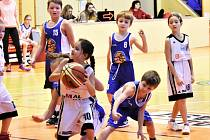 Basketbalový Vánoční turnaj kategorie U10 ve Strakonicích.