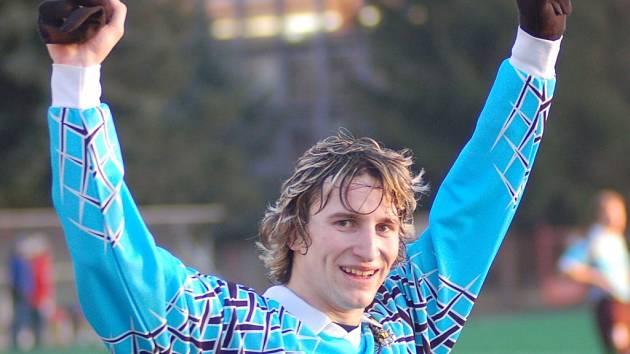 Přešťovický útočník Radek Horejš byl jediným střelcem  zápasu  Přešťovice – Katovice (1:0).