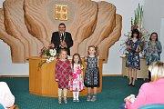 V úterý 16.října slavnostně přivítal nové občánky starosta Břetislav Hrdlička v obřadní síni měst