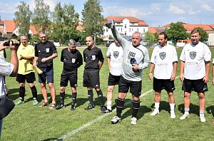 Fotbalová exhibice v Blatné.
