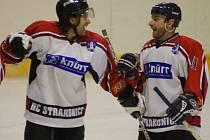 Jaroslav Bartoš a Karel Procházka (zleva) budou Strakonicím proti Příbrami kvůli zranění chybět.