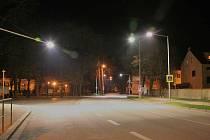Nasvícený přechod ve Vodňanech