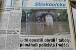 Co psaly Listy Strakonicka o povodních v roce 2002.