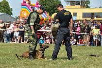 V neděli 20. května měli návštěvníci letiště ve Strakonicích možnost zhlédnout ukázky boje zblízka, obsluhu protiletadlových raketových systémů i schopnosti služebních psů.