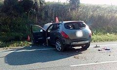 Ranní nehoda u Jinína.