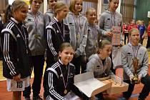 Strakonické mladší žákyně vyhrály v minulé sezoně turnaj v Tachově.