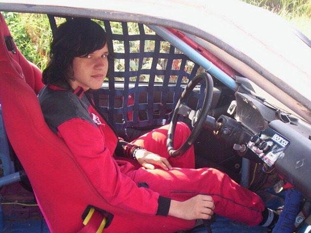 Patnáctiletý Petr Čada zatím jezdí hobbyrallyecross. Jeho snem je jezdit republikovou rallye.