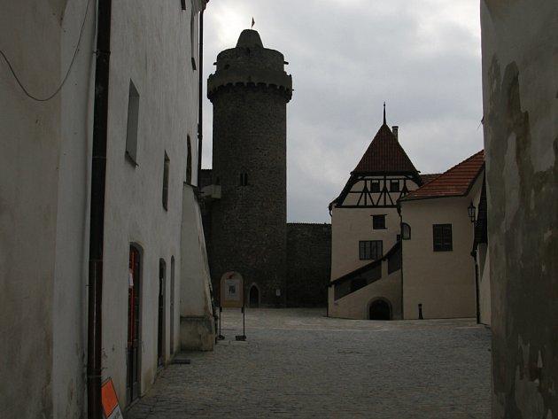 Nádvoří strakonického hradu.