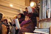 Chrámový sbor sv. Martina z Radomyšle zapěl na vánočním koncertě.