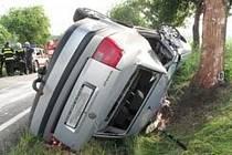Dopravní nehoda u Radomyšle.