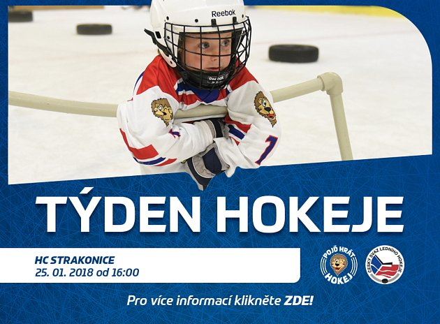 Týden hokeje - čtvrtek 25. ledna od 16 hodin na ZS Strakonice.