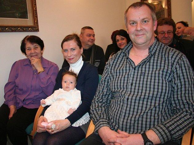 Terezka Němejcová byla v úterý 28. ledna mezi 26 novými občánky, které při letošním prvním vítání pozvali do obřadní síně strakonické radnice.
