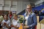 Julia Reisingerová pobesedovala s mladými basketbalistkami BK Strakonice.