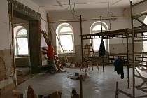 Nově budovaná třída mateřské školy na Lidické.