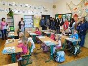 První školní den v Bělčicích.