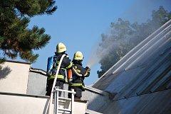 Cvičení strakonických dobrovolných hasičů