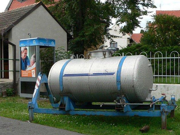 Cisterna s pitnou vodou ve Slaníku