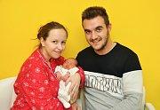 Eliška Haburajová z Blatné. Eliška se narodila 19. prosince 2018 v 19 hodin a 50 minut a při narození vážila 2530 g. Eliška je prvorozená.