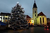 Rozsvícení vánočního stromku ve Vodňanech