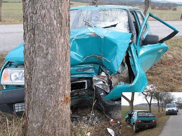 Nehoda u Oseka z rána 19. března.