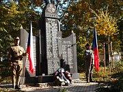 Připomínka 100. let založení československé republiky a konce války ve Vodňanech.