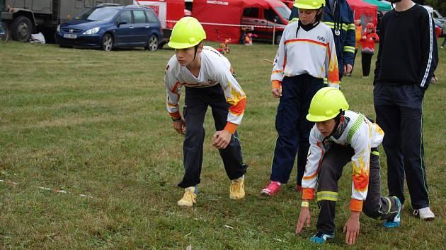 Okresní dětská hasičská soutěž v Chlumu.