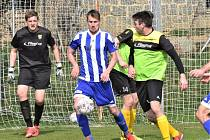 Fotbalová I.B třída: Sousedovice - Osek B 2:0.