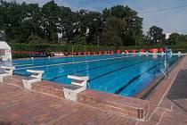 Venkovní bazén na Křemelce.
