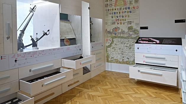 Městské muzeum v Blatné nabízí mnoho mechanických interaktivních prvků.