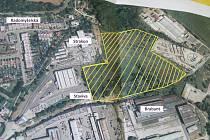 Místo, kde bude stát výrobní hala