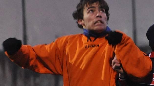 Jakub Říský poslal Strakonice proti Bohemians do vedení 2:1, zápas nakonec skončil spravedlivou remízou 2:2.